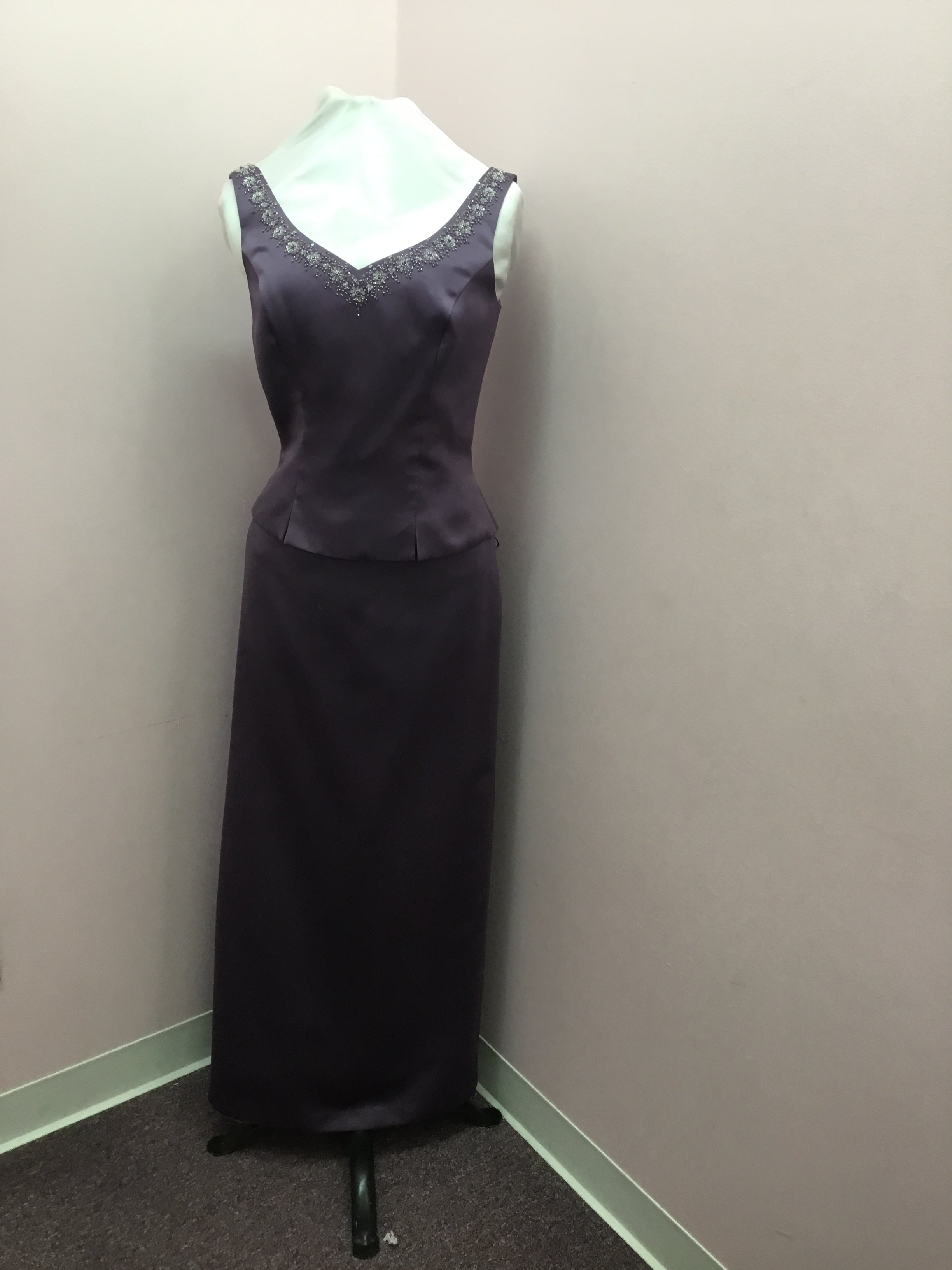 V-Neck Dark Purple Dress