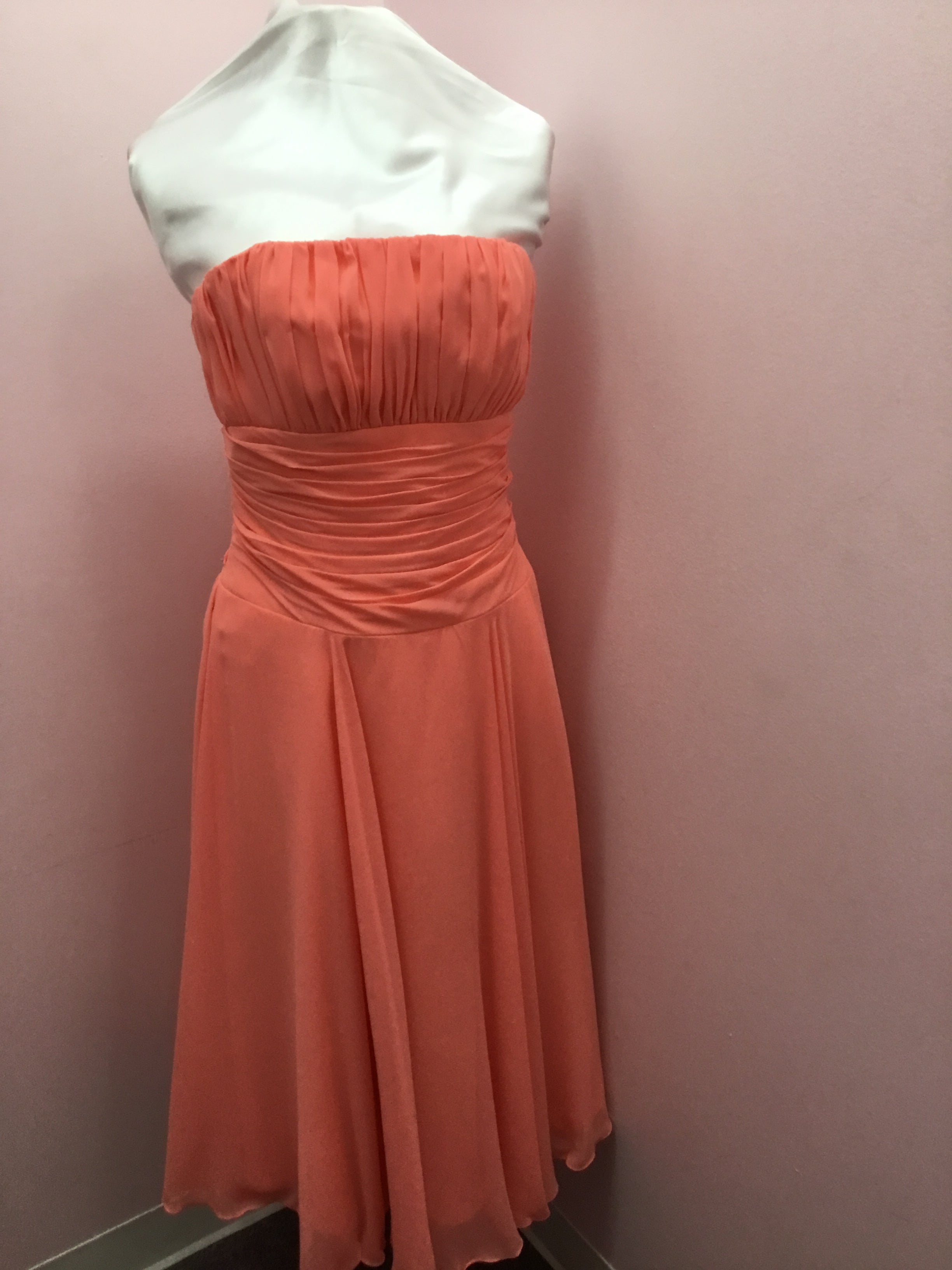 Strapless Coral Gown