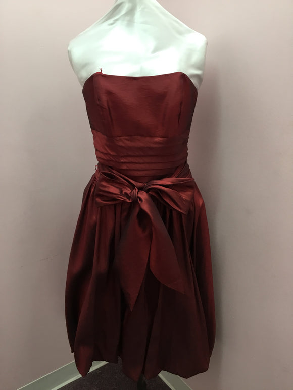 Bordeaux Strapless Dress