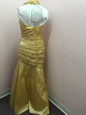 Gold Halter Style Gown