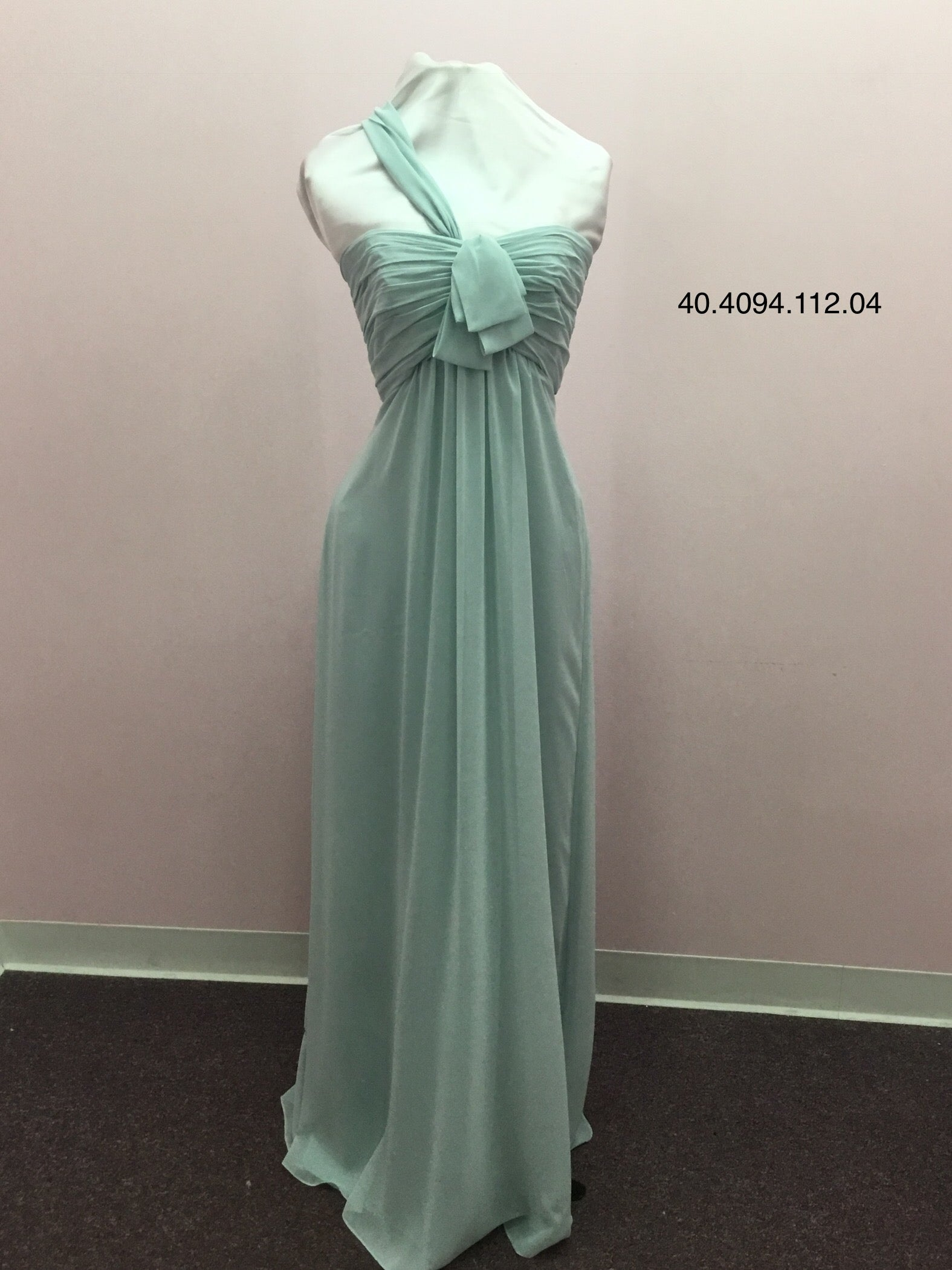 One Shoulder Mint Gown