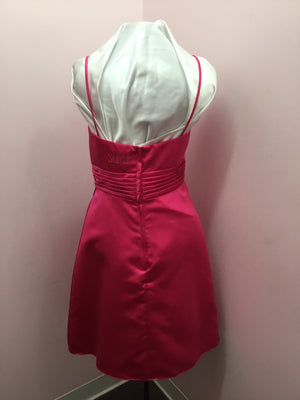 Spaghetti Strap Magenta Dress