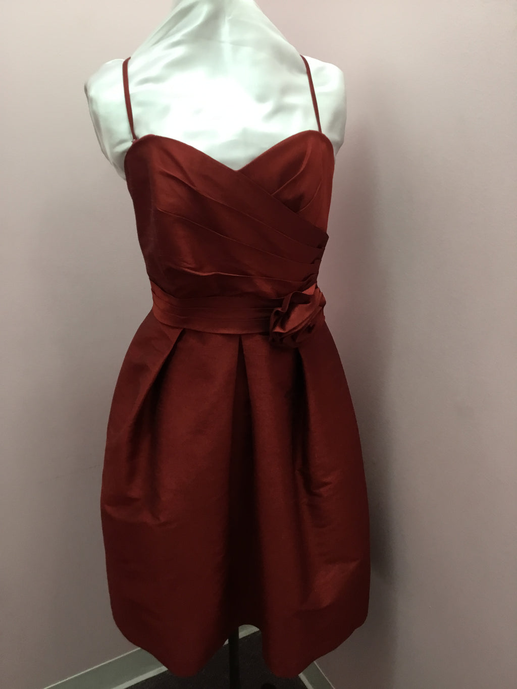 Spaghetti Stap Bordeaux Dress