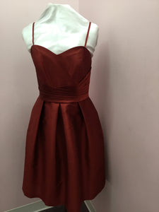 Spaghetti Strap Wine Dress