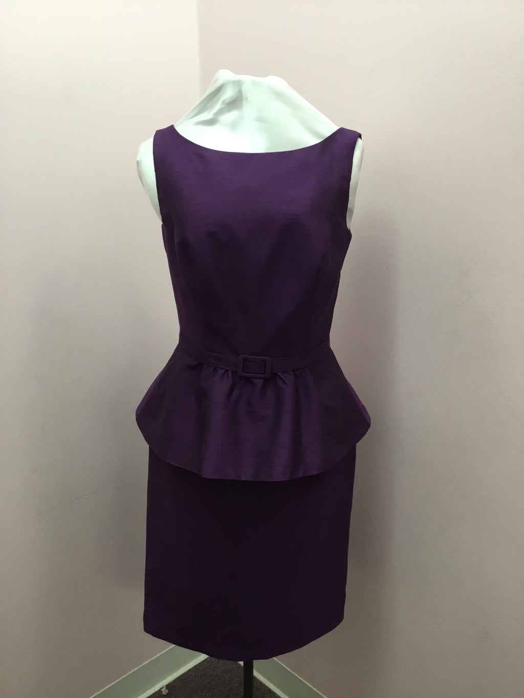 Peplum Plum Dress