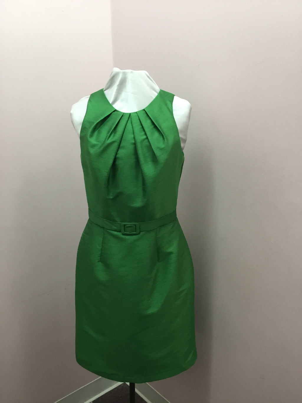 Emerald Dress with Belt