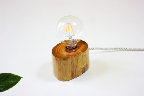 Teak Wood Desk Lamp