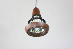 Wood Cage Lamp with Magnetic Lid