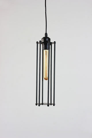 Vintage Metal Cage Tube Lamp
