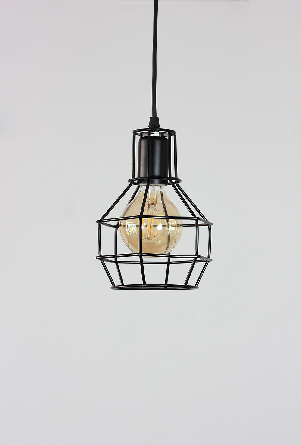 Industrial Bulb Cage Lamp
