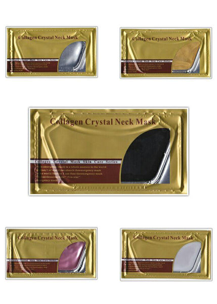 10 PCS/PACK Anti-aging Crystal Collagen Neck Mask