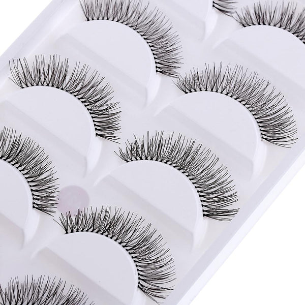 10 Pieces Natural Sparse Cross Eye Lashes Extension Makeup Long False Eyelashes