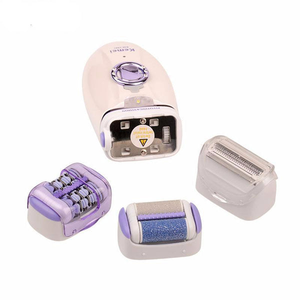 3 in 1 Women Electric Dead Skin Callus Remover Lady Epilator