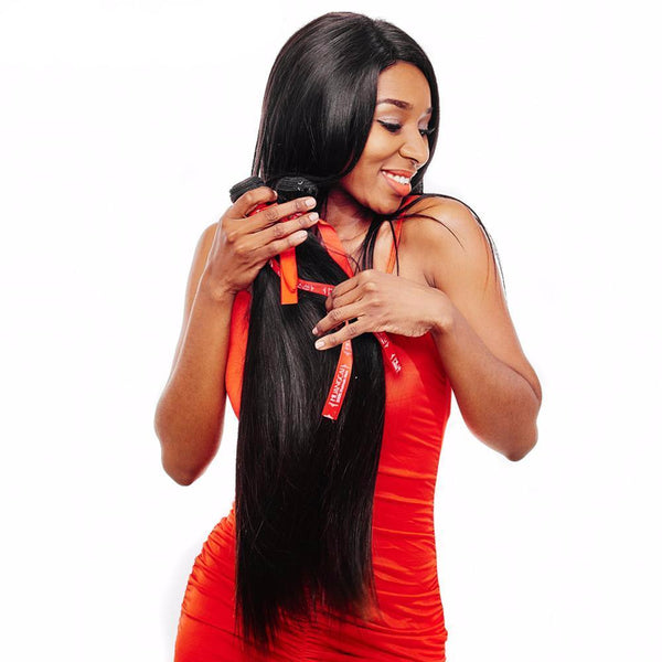 100% Human Hair Bundles No Tangle And Shed 8-28Inch Non Remy Hair Extensions