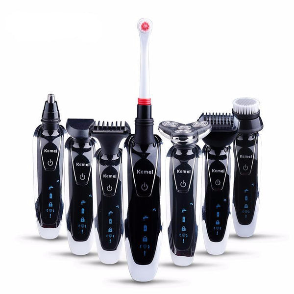 7 in 1 Men's 3D Electric Shaver 3 in 1 Beard Trimmer Rechargeable Razor