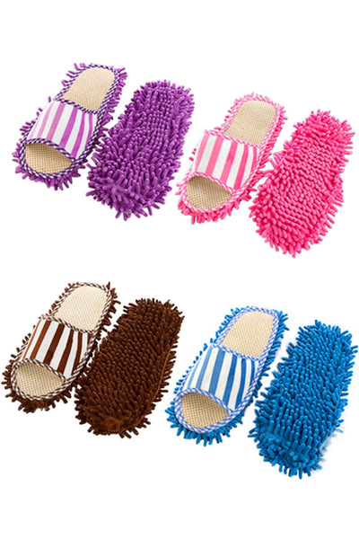 1 Pair Women Cleaning Dusting Home Slippers Shoes