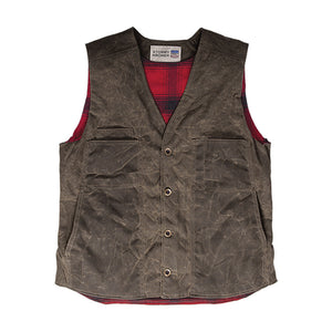 waxed cotton vest