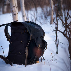 Frost River Isle Royale Jr Bushcraft Pack in Heritage Black