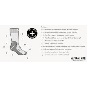 Icebreaker Men's Merino Hike+ Heavy Crew Socks