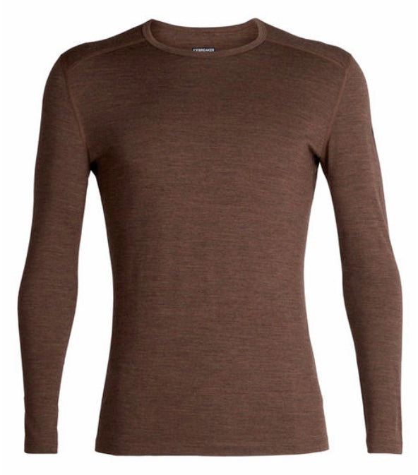 Icebreaker Oasis Long Sleeve Crewe - Bronze Heather