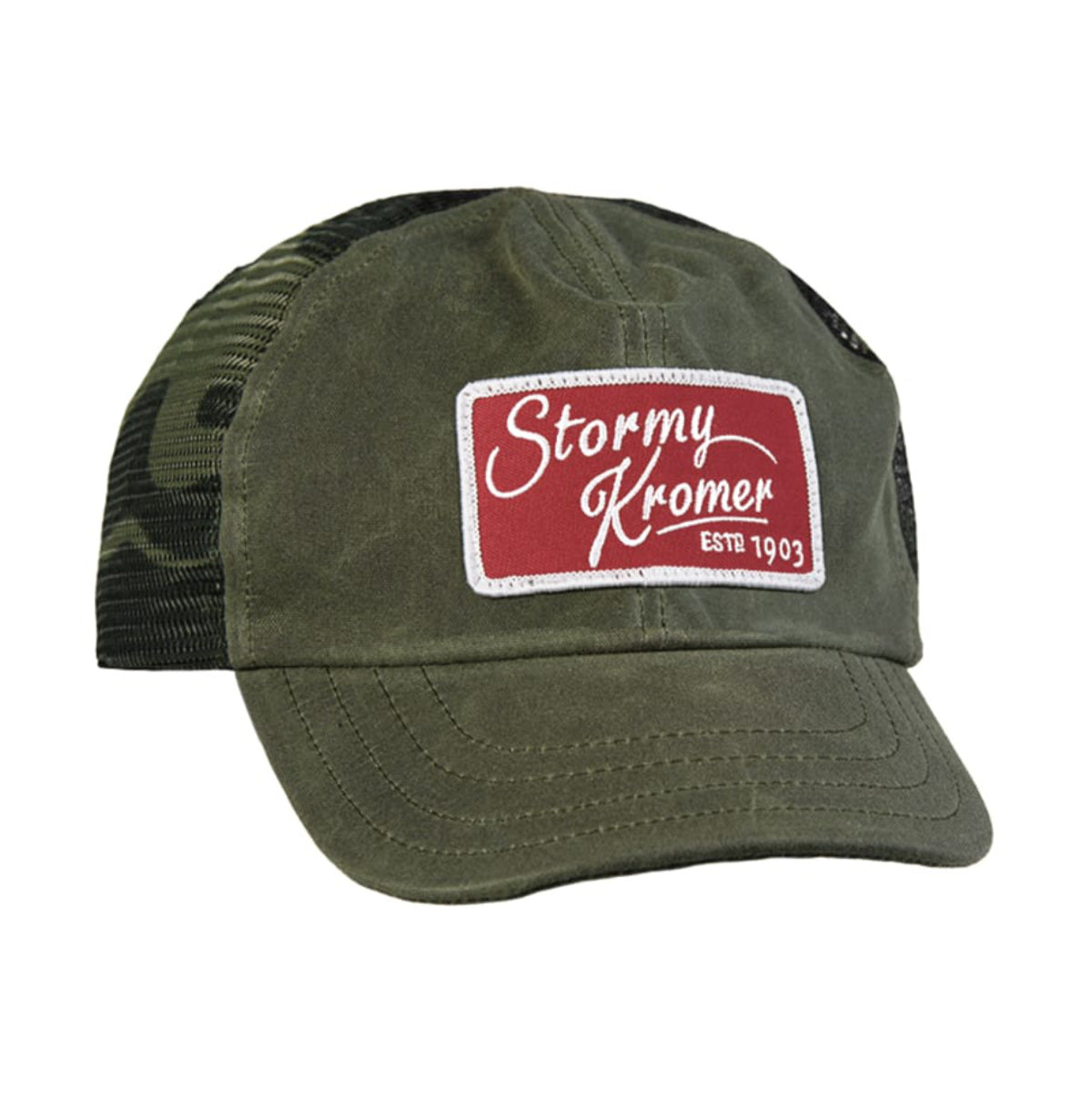 The Waxed Trucker Cap - Olive