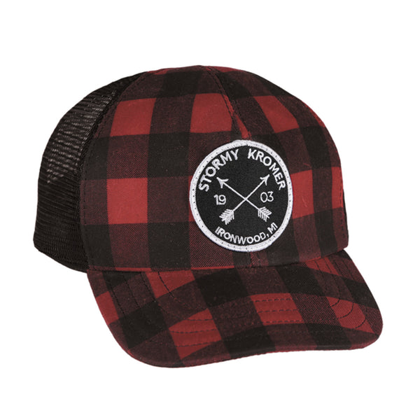The Waxed Trucker Cap - Buffalo Plaid