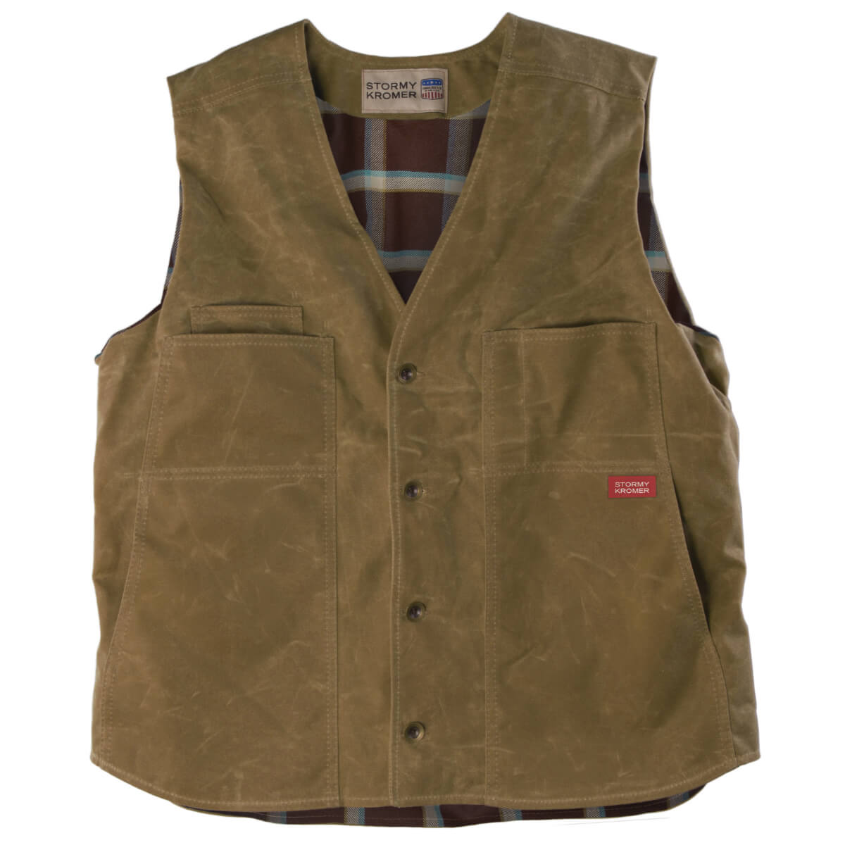 The Waxed Cotton Vest, waxed gilet