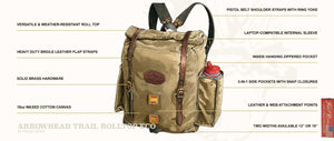 Frost River Arrowhead Rolltop Pack - Premium