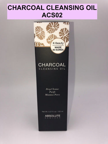 ABSOLUTE NEW YORK K-BEAUTY CHARCOAL CLEANSING OIL PURIFY MINIMIZE PORES ACS02