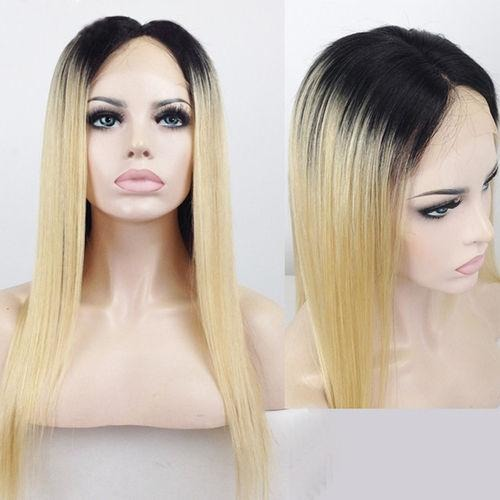 Ombre 1b/613 Full Lace Wigs 100% Virgin Hair