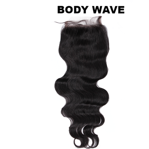 8A Grade 4x4 Lace Closure -Body Wave