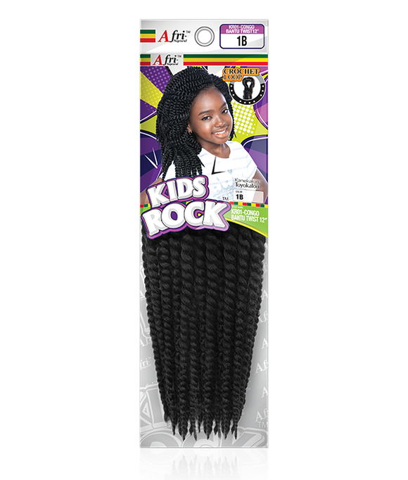 AFRI-NAPTURAL KIDS ROCK SILK DREADS 12