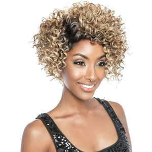 Brown Sugar Human Hair Blend Soft Swiss Lace Wig - BSS204