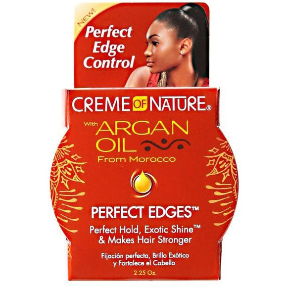 Creme Of Nature Perfect Edges Styling Product with Argan Oil - 2.25 fl oz jar