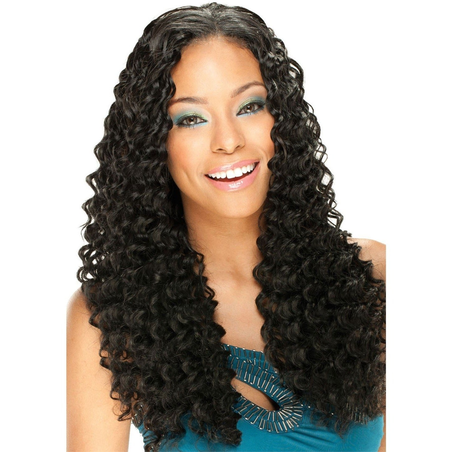 MODEL MODEL REMIST 100 INDIAN REMY HUMAN HAIR WEAVE LONG Deep Kiss