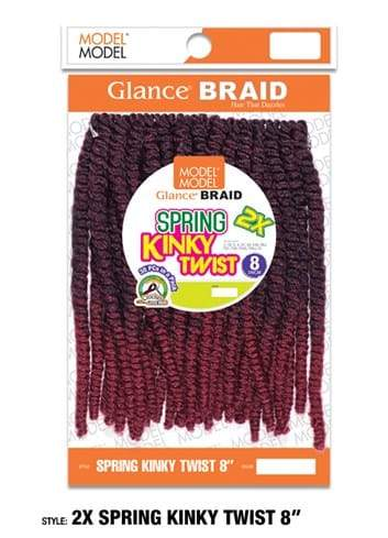MODEL MODEL GLANCE BRAID - 2X SPRING KINKY TWIST 8 INCHE