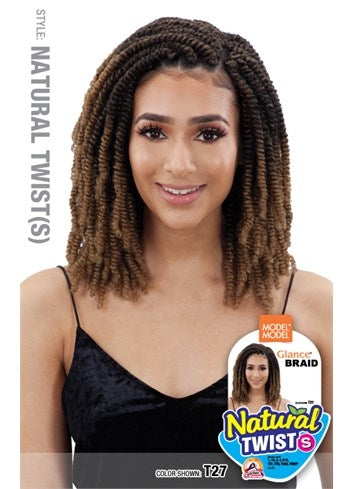 Model Model Glance NATURAL TWIST (S) Crochet Braid