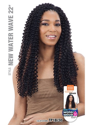 MODEL MODEL GLANCE SYNTHETIC HAIR CROCHET BRAIDS WATER WAVE 22