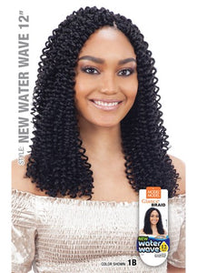 MODEL MODEL GLANCE SYNTHETIC HAIR CROCHET BRAIDS WATER WAVE 12""