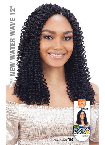 MODEL MODEL GLANCE SYNTHETIC HAIR CROCHET BRAIDS WATER WAVE 12