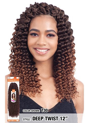 MODEL MODEL GLANCE  SYNTHETIC HAIR CROCHET BRAIDS DEEP TWIST 12
