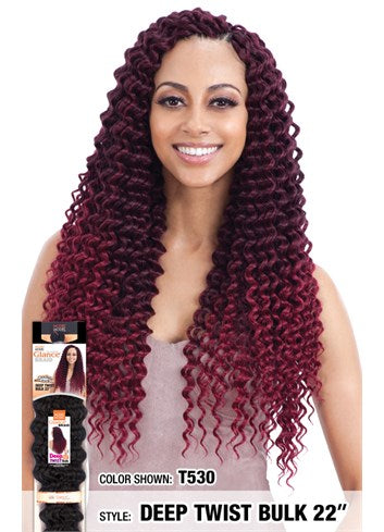 MODEL MODEL GLANCE  SYNTHETIC HAIR CROCHET BRAIDS DEEP TWIST 22