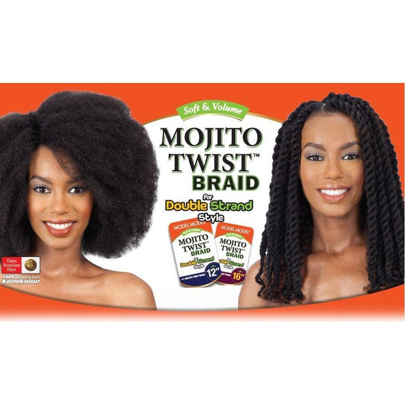 MODEL MODEL HAIR BRAIDS DOUBLE STRAND STYLE (CUBAN TWIST) MOJITO TWIST BRAID 16