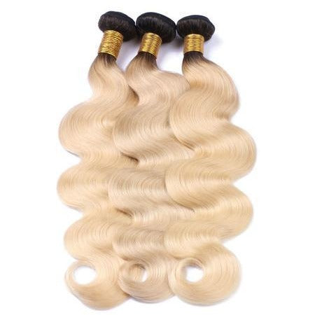 Russian 1b/613 Ombre Blonde 100% Full Cuticle Virgin Hair Body Wave