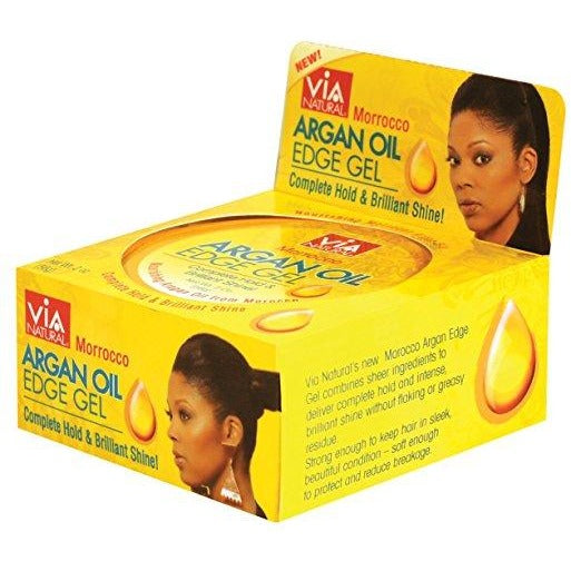Via Natural Moroccan Argan Oil X3 Edge Gel 2 oz