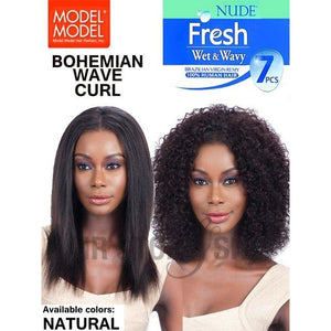 Model Model Nude Fresh Wet & Wavy 100% Virgin Remy Weaving Bohemian Curl 7PCS