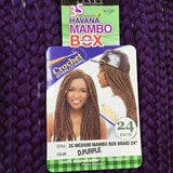 "JANET COLLECTION 24"" 3S Havana Medium Mambo Box Braid (medium) 100% Kanekalon/Toyokalon"