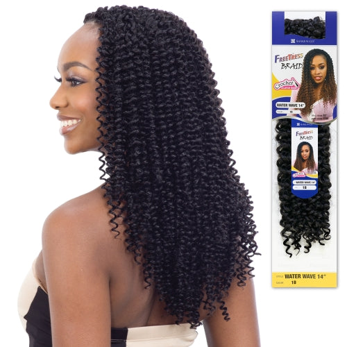 FREETRESS SYNTHETIC HAIR CROCHET BRAIDS WATER WAVE 14