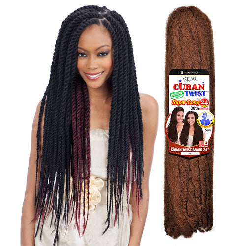 FREETRESS EQUAL SYNTHETIC HAIR BRAIDS (HAVANA TWIST) CUBAN TWIST BRAID 24