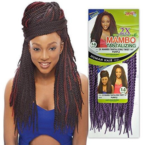 JANET COLLECTION Noir Tantalizing Twist Braid  100% Kanekalon